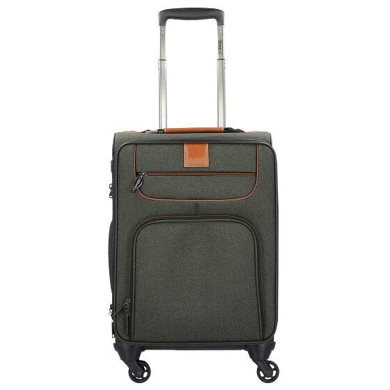 Stratic Go First S Valise de cabine 4 roulettes 55 cm compartiment Laptop khaki