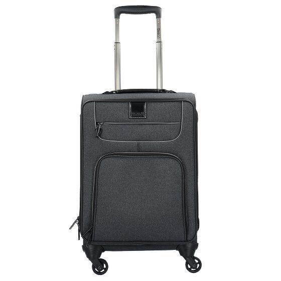 Stratic Go First S Valise de cabine 4 roulettes 55 cm compartiment Laptop Black