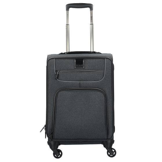 Stratic Go First S Valise de cabine 4 roulettes 55 cm compartiment Laptop Black