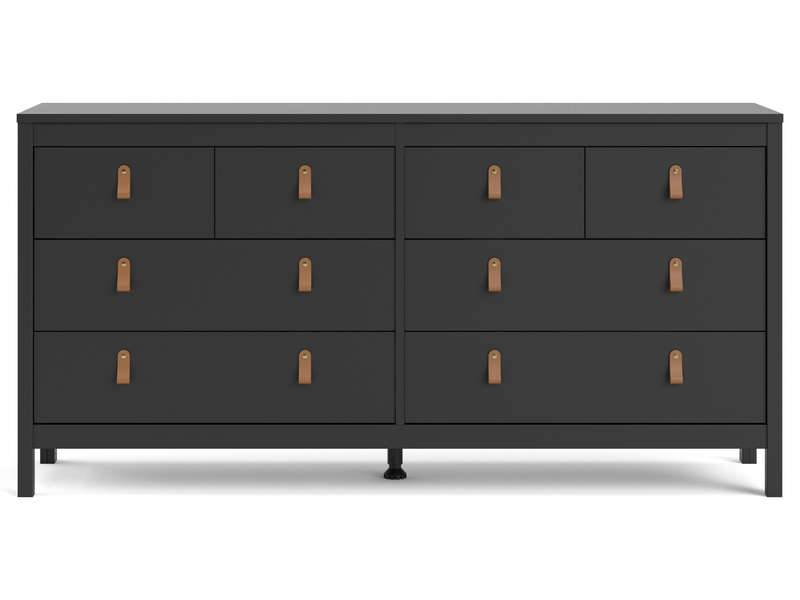 CONFORAMA Commode 4+4 tiroirs REAL coloris noir