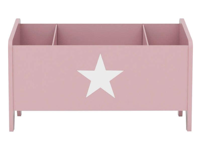 CONFORAMA Coffre à jouets STAR coloris rose