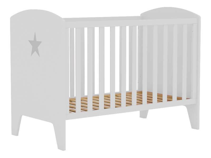 CONFORAMA Lit bébé STAR coloris blanc