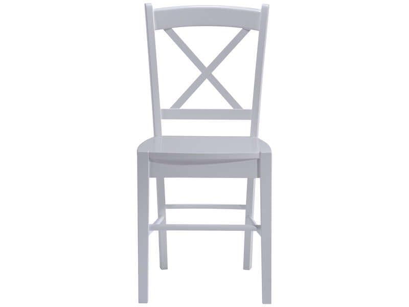 CONFORAMA Chaise en bois massif COTTAGE coloris blanc