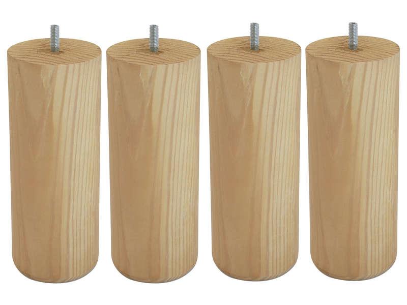 NIGHTITUDE Jeu de pied (x4) bois massif 20 cm