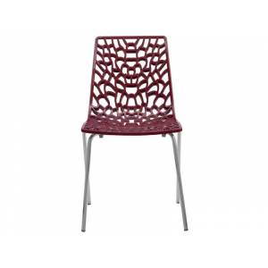CONFORAMA Chaise GROOVE 2 coloris rouge - Publicité