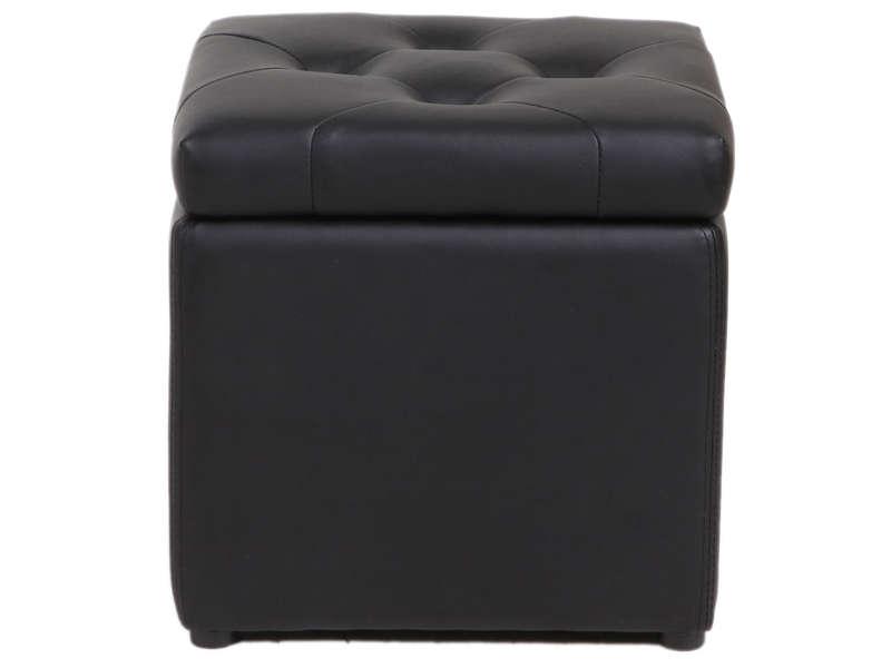 CONFORAMA Pouf coffre 37X45 cm BOTAI coloris noir