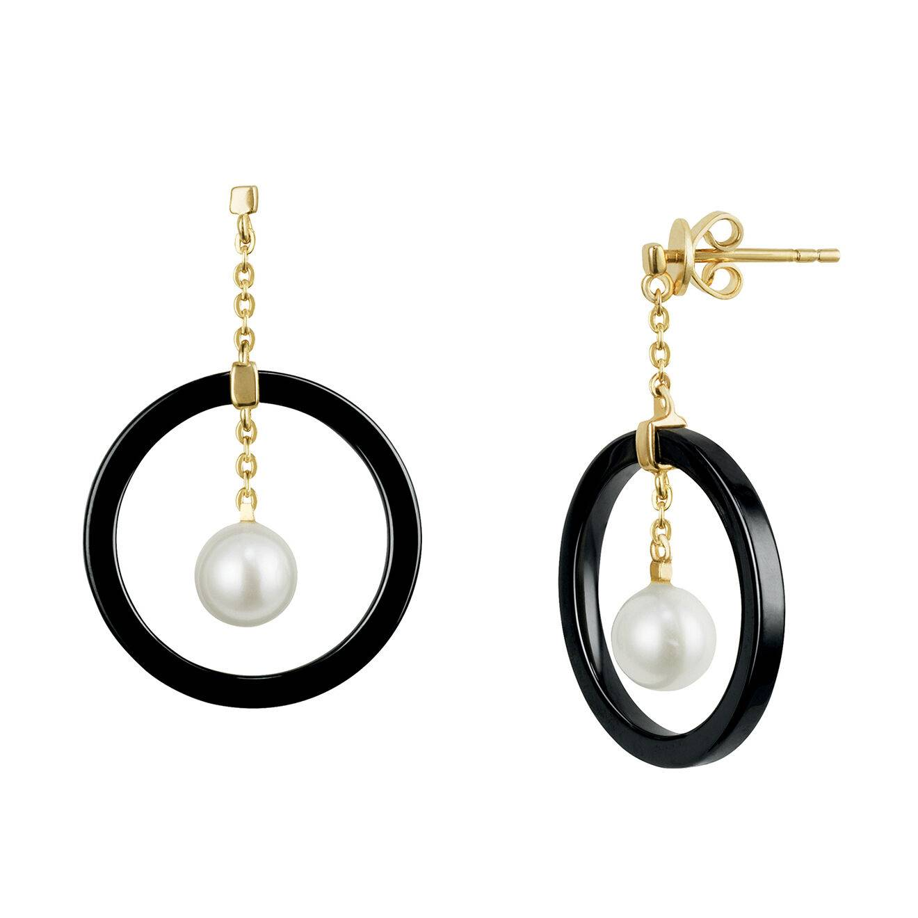 Misaki - Boucles d'oreilles Cheek en Argent et Perles de culture blanches