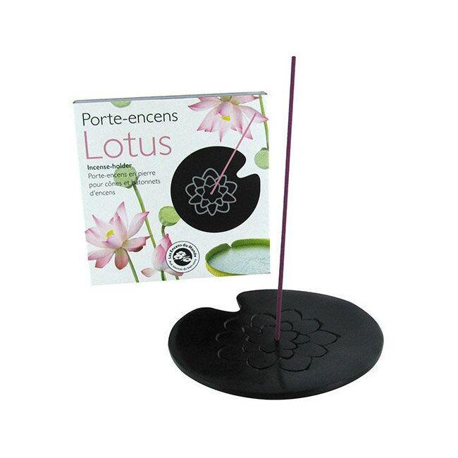 ENCENS DU MONDE - Porte Encens Lotus en pierre naturelle