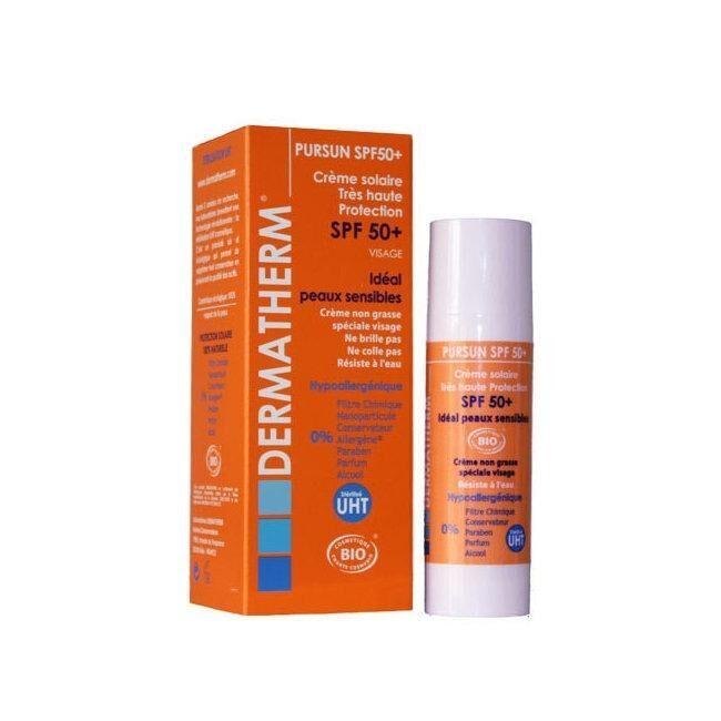DERMATHERM - PurSun Crème solaire bio SPF 50+ Visage 50ml