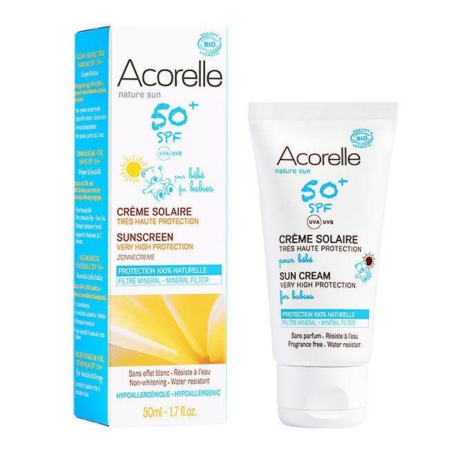 ACORELLE - Crème solaire bio SPF50+ pour Bébé - Très haute...