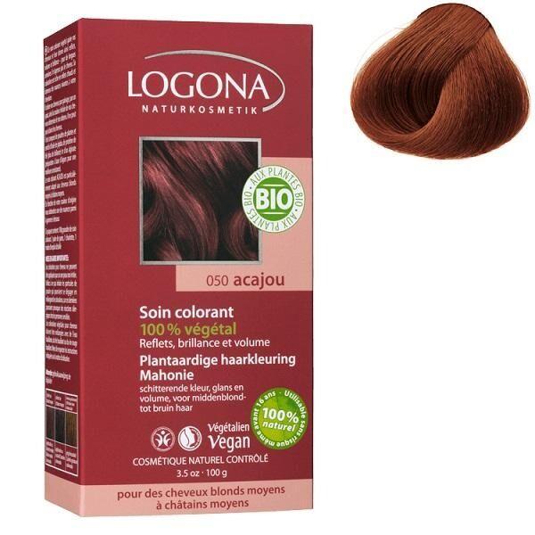 LOGONA Soin colorant Bio 100 % Végétal - Acajou - 100 gr - Logona