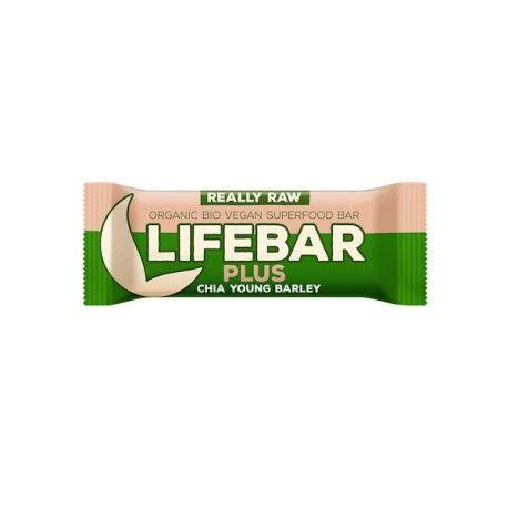 LIFEFOOD Lifebar Plus Chia et Orge - 47g - Lifefood