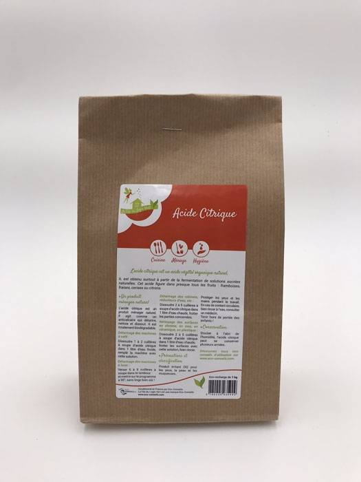 Eco-conseils Acide citrique en sachet de 1 Kg