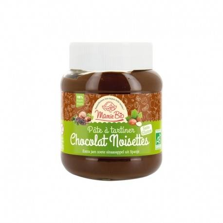 MAMIE BIO Ma Pâte à tartiner Chocolat Noisettes Sans Gluten - 350g - Mamie Bio