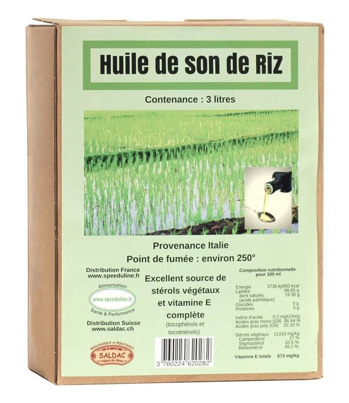 Speeduline Pj Natura Huile de son de riz - BIB de 3L