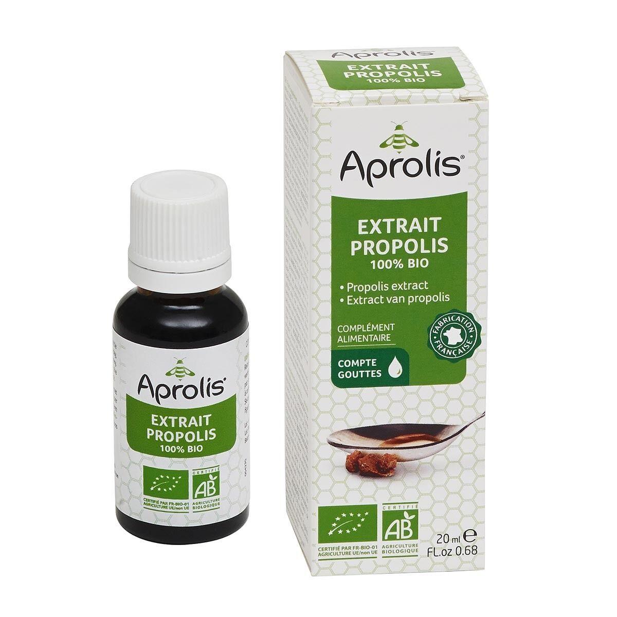 APROLIS Extrait de Propolis 100% 20ml Bio - Aprolis