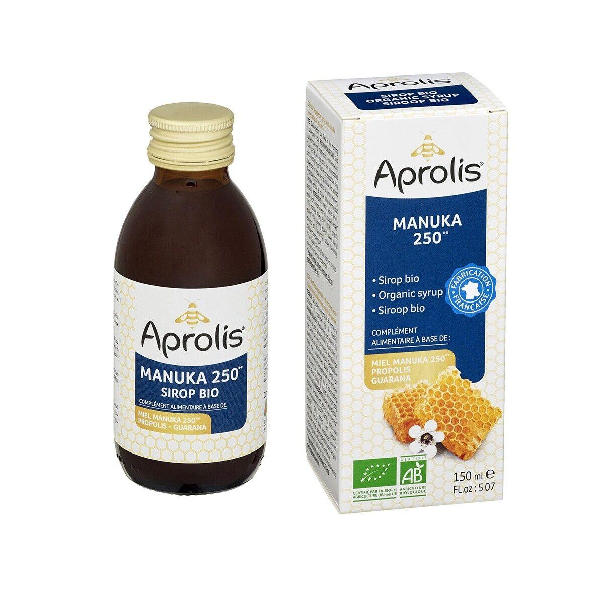APROLIS Sirop au Miel de Manuka 150ml Bio - Aprolis