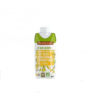 ETHIQUABLE Infusion glacée thé vert gingembre citron vert bio &...
