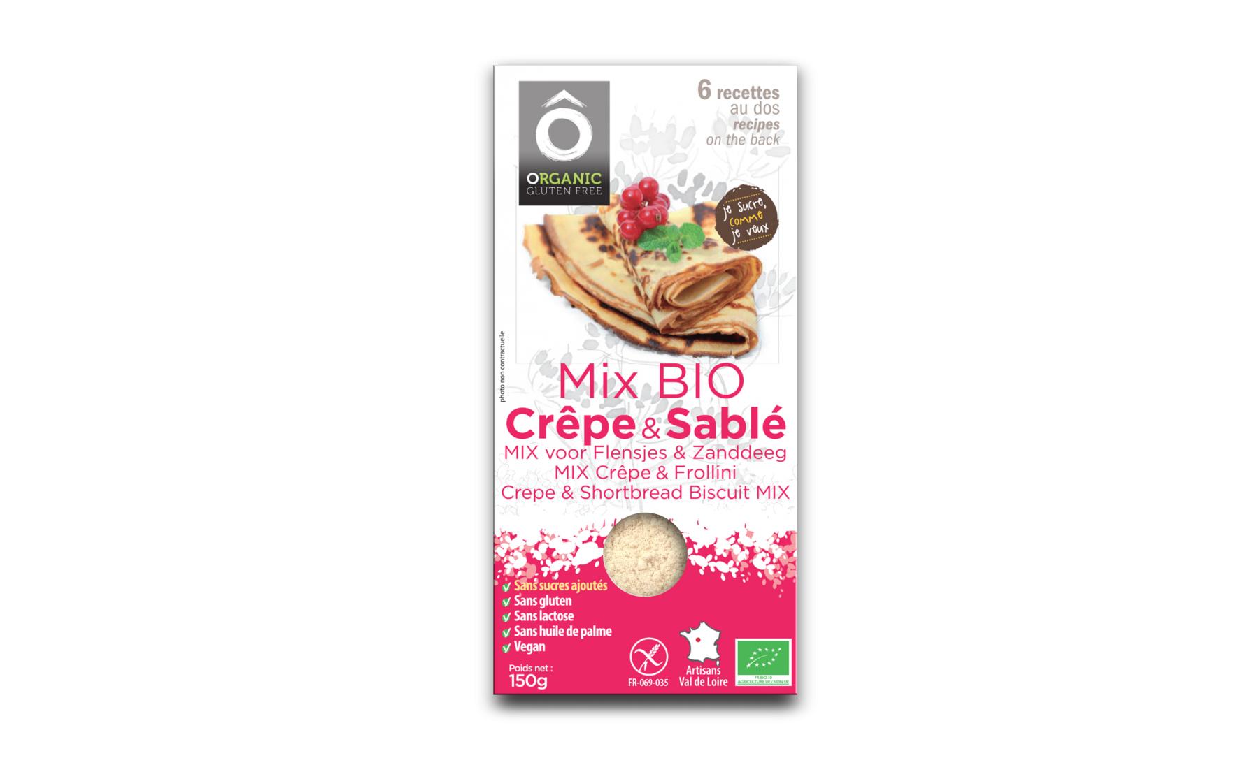 Terra Ceres Sas Mix Pâtissier Crêpe&Sablés; BIO Vegan, sans gluten et san sucre...