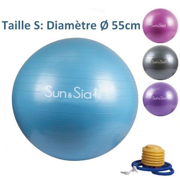 LA PLACE Ballon de Yoga/Fitness Bleu 55CM
