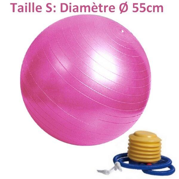 LA PLACE Ballon de Yoga/Fitness Rose 55CM