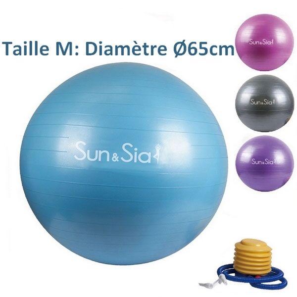 LA PLACE Ballon de Yoga/Fitness Bleu 65CM