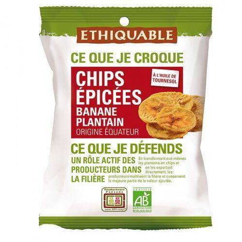 ETHIQUABLE Chips ÉPICÉES Banane Plantain bio & équitable