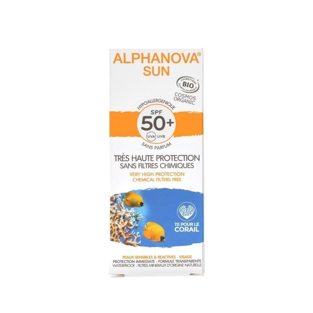 ALPHANOVA Crême solaire bio - SPF 50 - 50 g - Alphanova