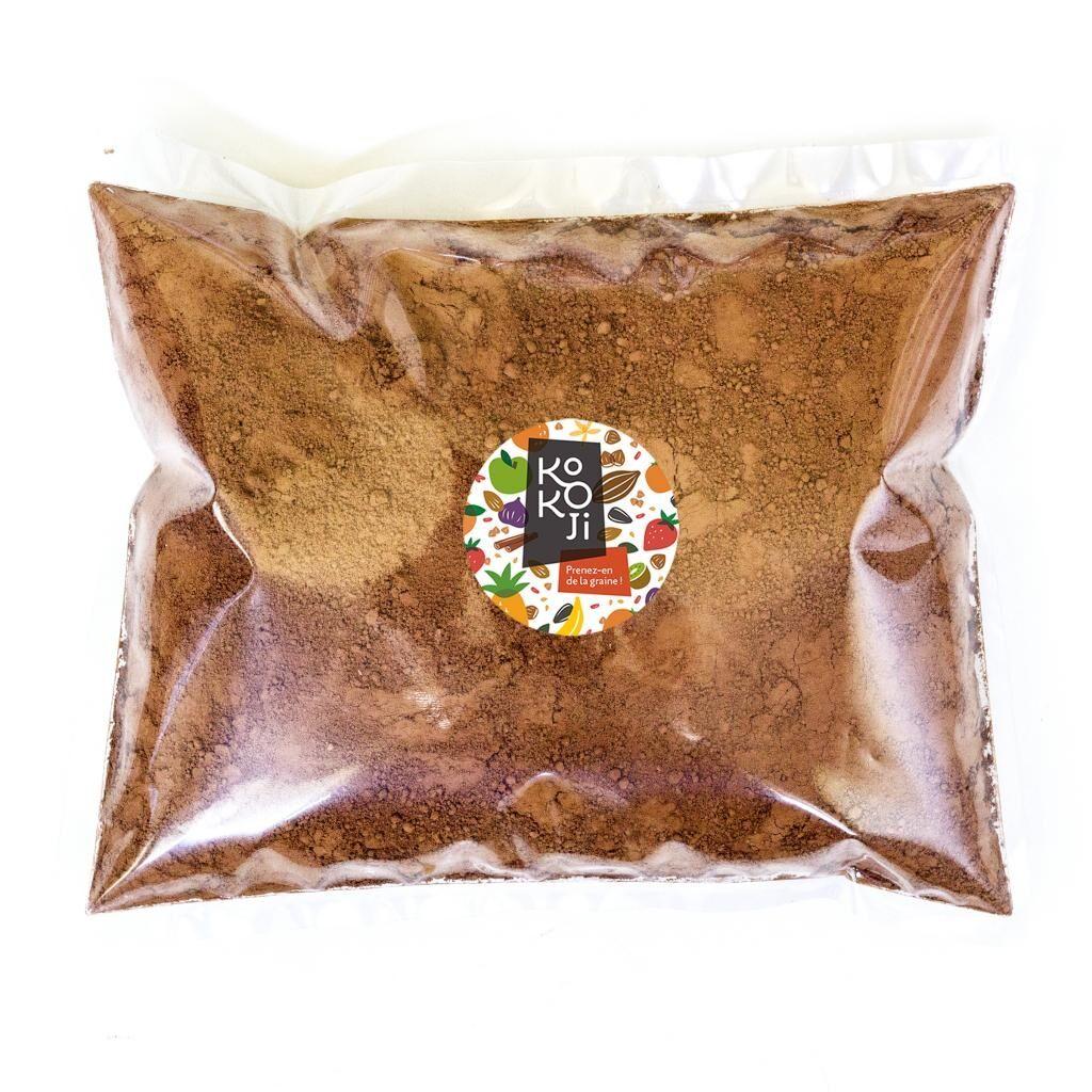 Kokoji Cacao cru Bio équitable en poudre - 1 Kg vrac - Sans sucre ni...