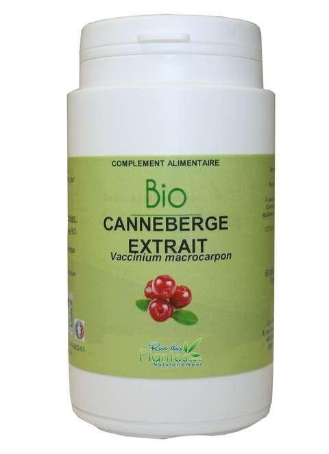 ECOCERT canneberge extrait bio 120 gélules