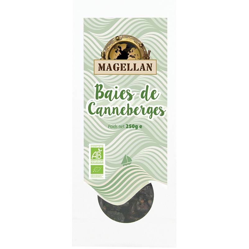 Biorgania Canneberges sucre BIO 250g - sachet vrac Magellan