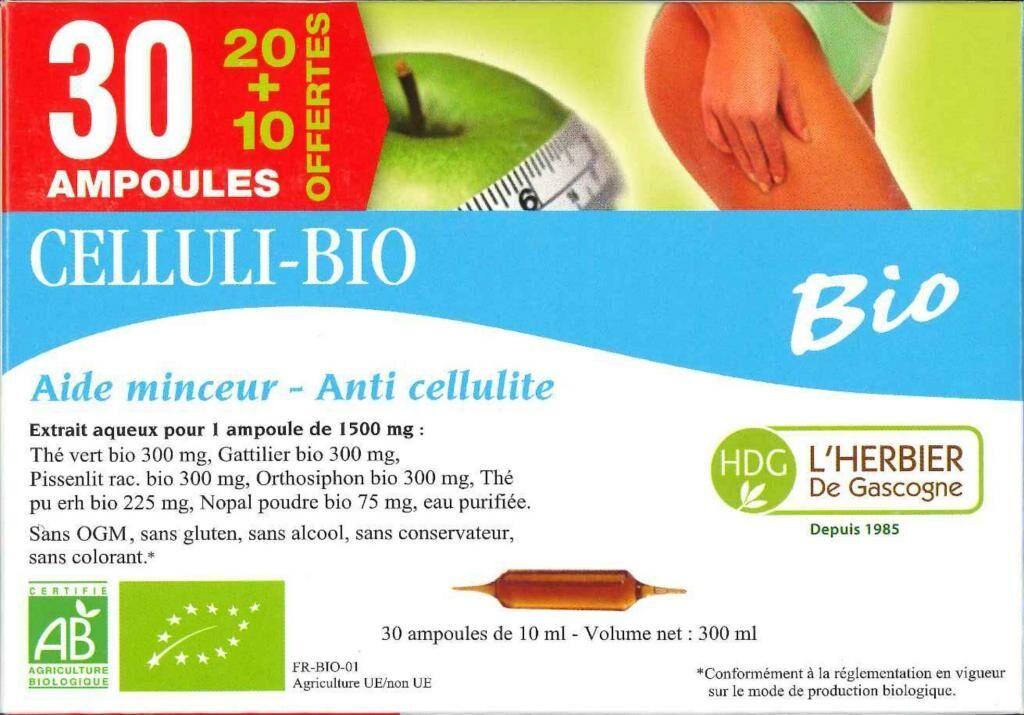 ECOCERT Celluli bio - Herbier de Gascogne - 30 ampoules
