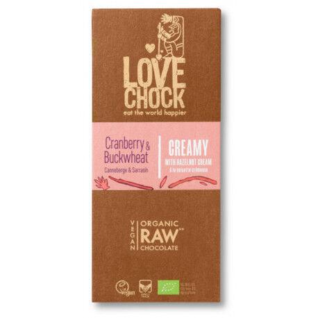 LOVECHOCK CHOCOLAT CRU Canneberge & Sarrasin