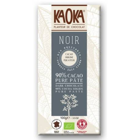 Paranatura CHOCOLAT NOIR 90% Cacao Pure Pâte Bio
