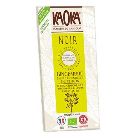 EQUITABLE CHOCOLAT NOIR Gingembre Citron Bio 58%