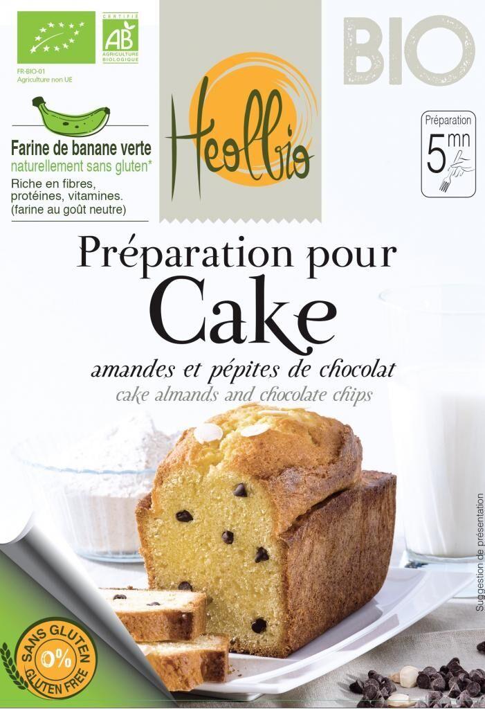 Heolbio préparation bio pour cake aux amandes et aux pépites de...