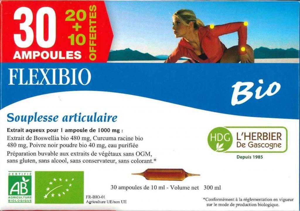 ECOCERT Flexibio - Herbier de Gascogne - 20 ampoules - Biovedas