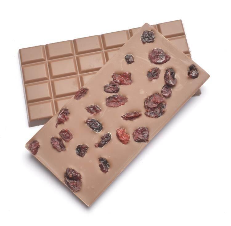 ECOCERT Chocolat au lait Bio Cranberry