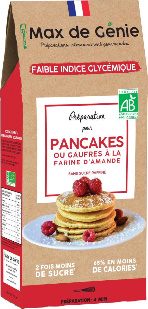 Max De Genie Préparation pour pancakes à la farine d'amande