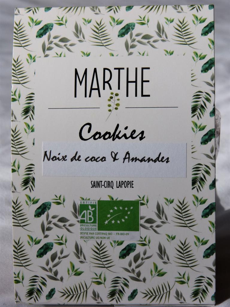 Marthebio Cookies Bio Noix de coco Amandes 150g
