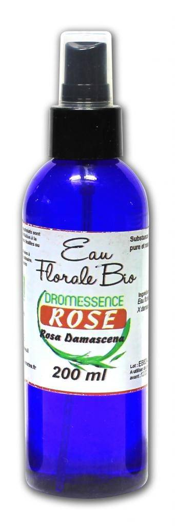Dromessence Hydrolat (ou eau florale ) de rose de Damas BIO  200 ml AVEC SPRAY...