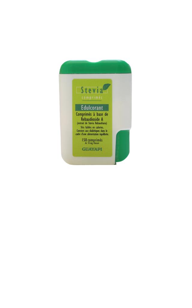 GUAYAPI Stevia en comprimés (extrait de stévia blanche)