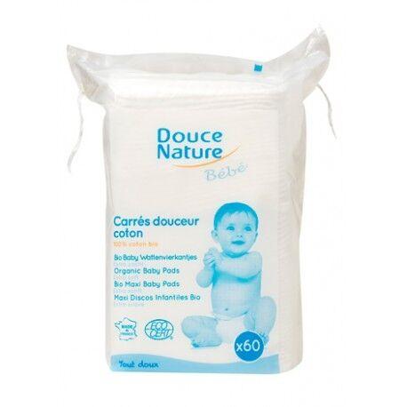 DOUCE NATURE Carrés Douceur coton Bio x60-Douce Nature Bébé