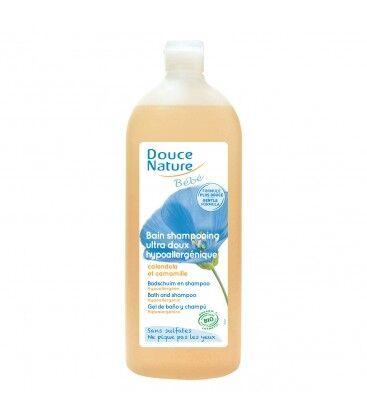 DOUCE NATURE Bain shampoing ultra doux sans sulfates,...