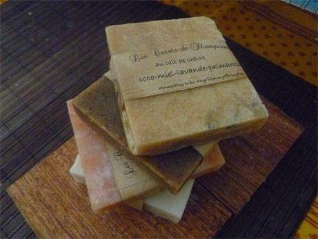 Les Essentiels D'isabelle Shampoing solide ou carré de shampoing coco miel palmarosa...