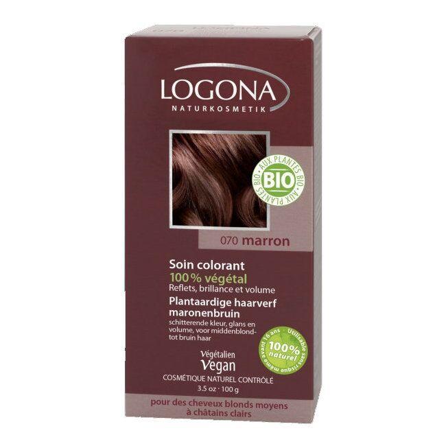 LOGONA - Marron - Soin colorant végétal - Reflets pour cheveux...