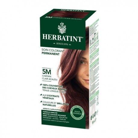 HERBATINT Coloration Cheveux Naturelle 5M Châtain Clair Acajou - 150ml -...