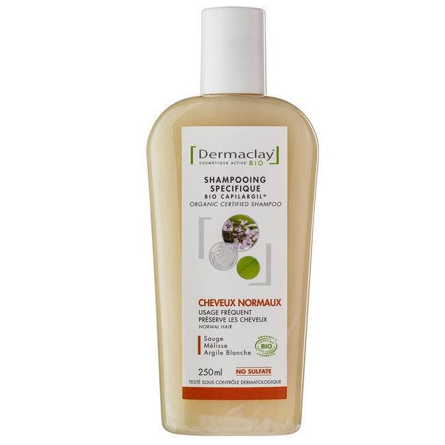 DERMACLAY - Shampoing Bio Capilargil Usage Fréquent - Cheveux...