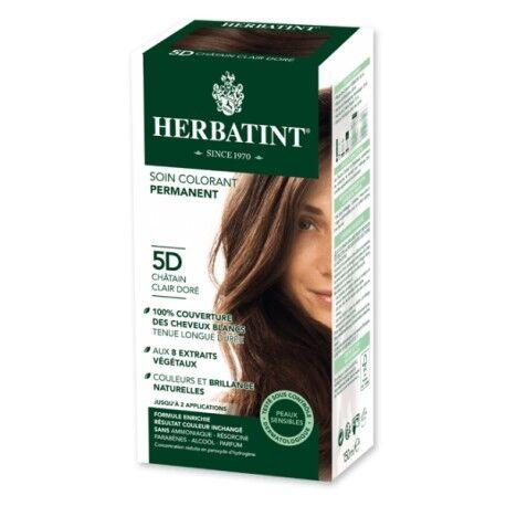 HERBATINT Coloration Cheveux Naturelle 5D Châtain Clair Doré - 150ml -...