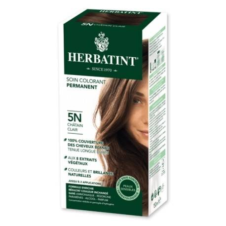 HERBATINT Coloration Cheveux Naturelle 5N Châtain Clair - 150ml - Herbatint
